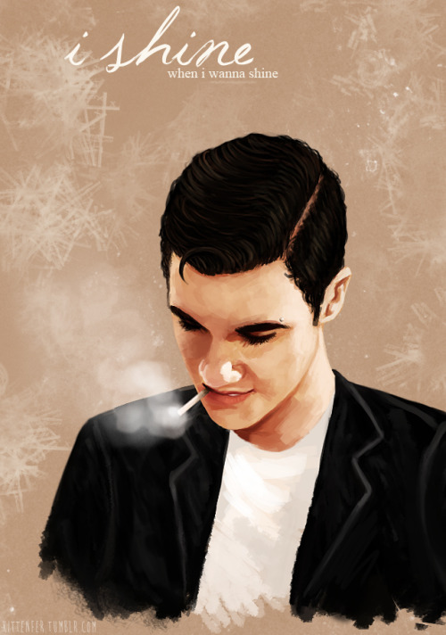 kittenfer:  I was just doing a speedpaint of Darren, and badboy!Blaine made himself known…
