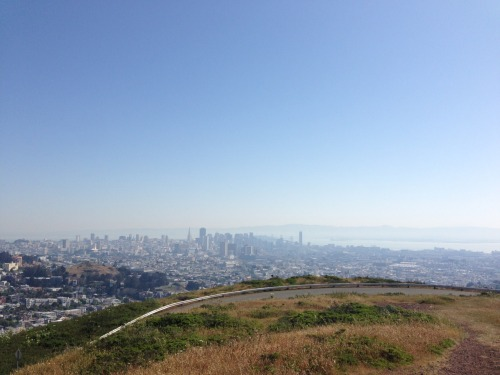 Walked up to twin peaks and read a book this AM.