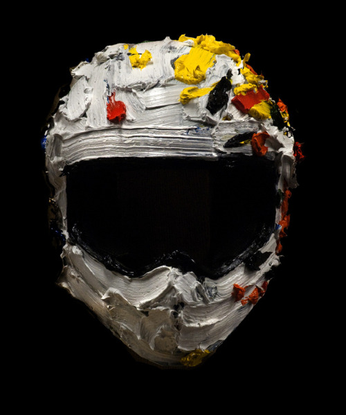 Erik Olson Helmet (India), 2011 oil on Arai motorcycle helmet, dimensions variable VIA
