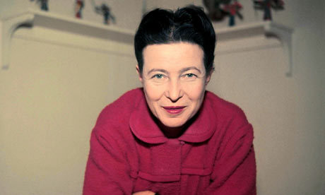 """booksandpublishing:    """"No one is more arrogant toward women, more aggressive or scornful, than the man who is anxious about his virility.""""  - Simone de Beauvoir  Born on this day in 1908"""