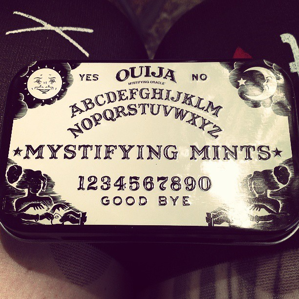 Yum yum #ouijaboard #ghostsandshit #paranormal #moon #stars #evilmints