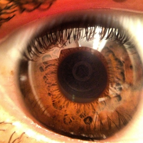 I love how the camera lense makes my pupil. It's amazing.