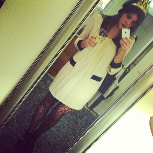 Happy #NewYearsEve! #OOTD #winterwhite #moschino #dress #champagne