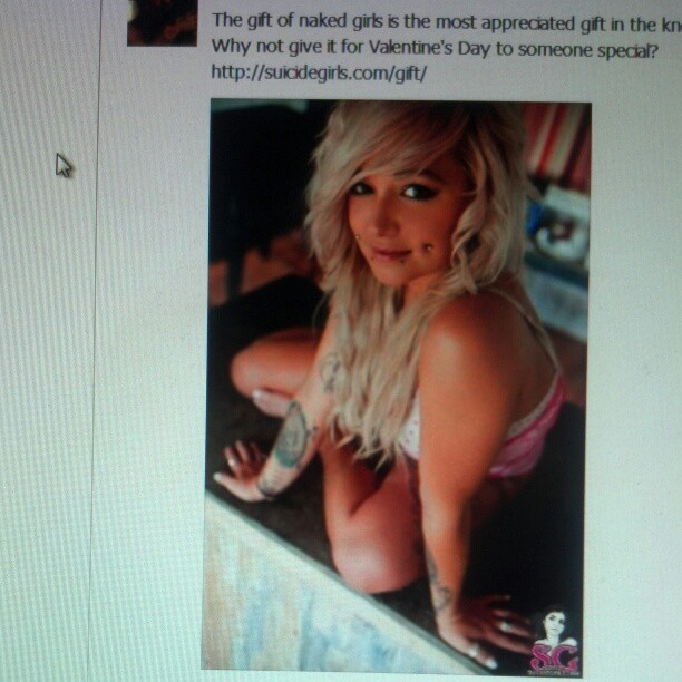 placebosuicide:  Omg I was on the suicide girls facebook today <3  #surrealmoment  Sweet, sexy, love of my life