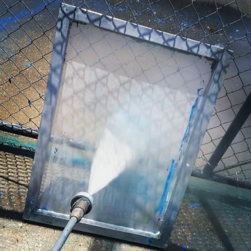 Just pressure washing.