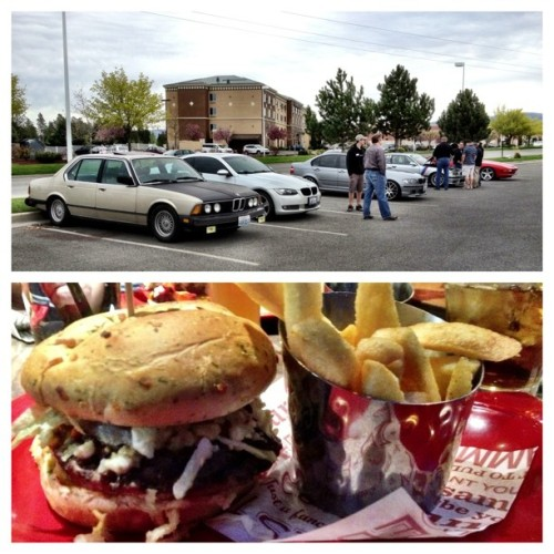 TSD Rally & #lunch with the #BMW club today! 😊 #burger #yummy #e92 #335xi #e46 #M3 #e36 #850i (at Red Robin Gourmet Burgers)
