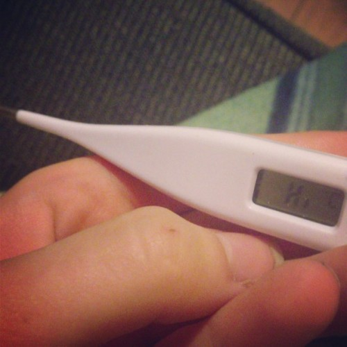 my fever is saying hi to me #thermometernotapregtestok.