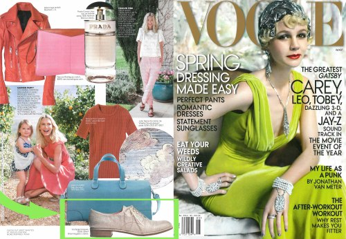 Via Spiga's Ivette in the May issue of Vogue
