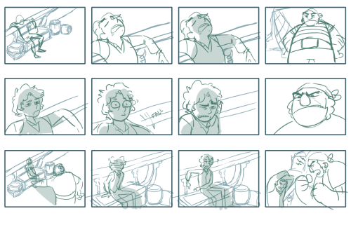 kordovart:  Storyboards page 1 for a short film idea.