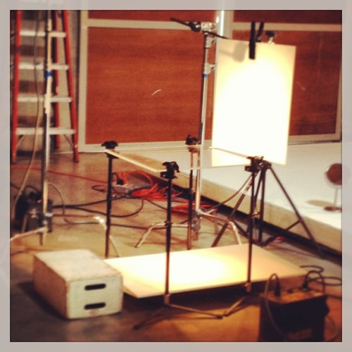 Photo shoot - studio set up.