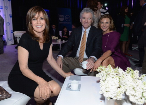 dallasfan4ever:  jrse4ever:  Linda Gray, Patrick Duffy and Brenda Strong at 2013 TNT/TBS Upfront - NYC, May 15, 2013  Just like they are at home at Southfork. lol