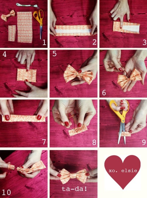 DIY Bow via A Beautiful Mess