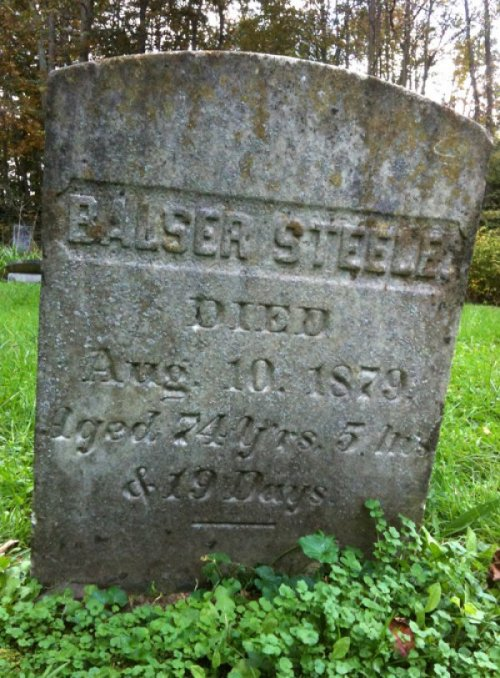 Balser Steele Gravestone At least it didn't hurt.