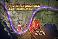 Severe Weather Headed Back to Texas, Louisiana Widespread severe weather has been absent from the United States since around Christmastime, but that will change at midweek with flooding rain also a significant concern.