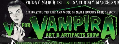 Come check out the V for Vampira art show at our flagship store Monster-a-gogo 7361 Melrose Ave, Los Angeles. This will include the launch of Kreepsville 666 licensed Vampira line and include some spooktakular Vampira art and artefacts!