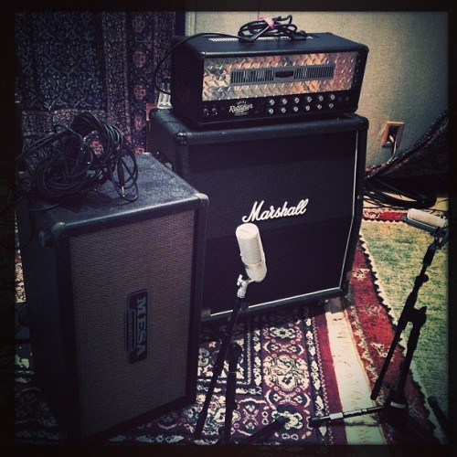 Day 1 of recording the new Kirby Krackle album! The amps that will be delivering the nerd-rock.