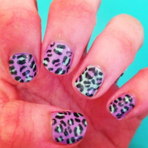 Painted my nails for the first time in a while! Cheetah print is my fav. #sassy 💁💅