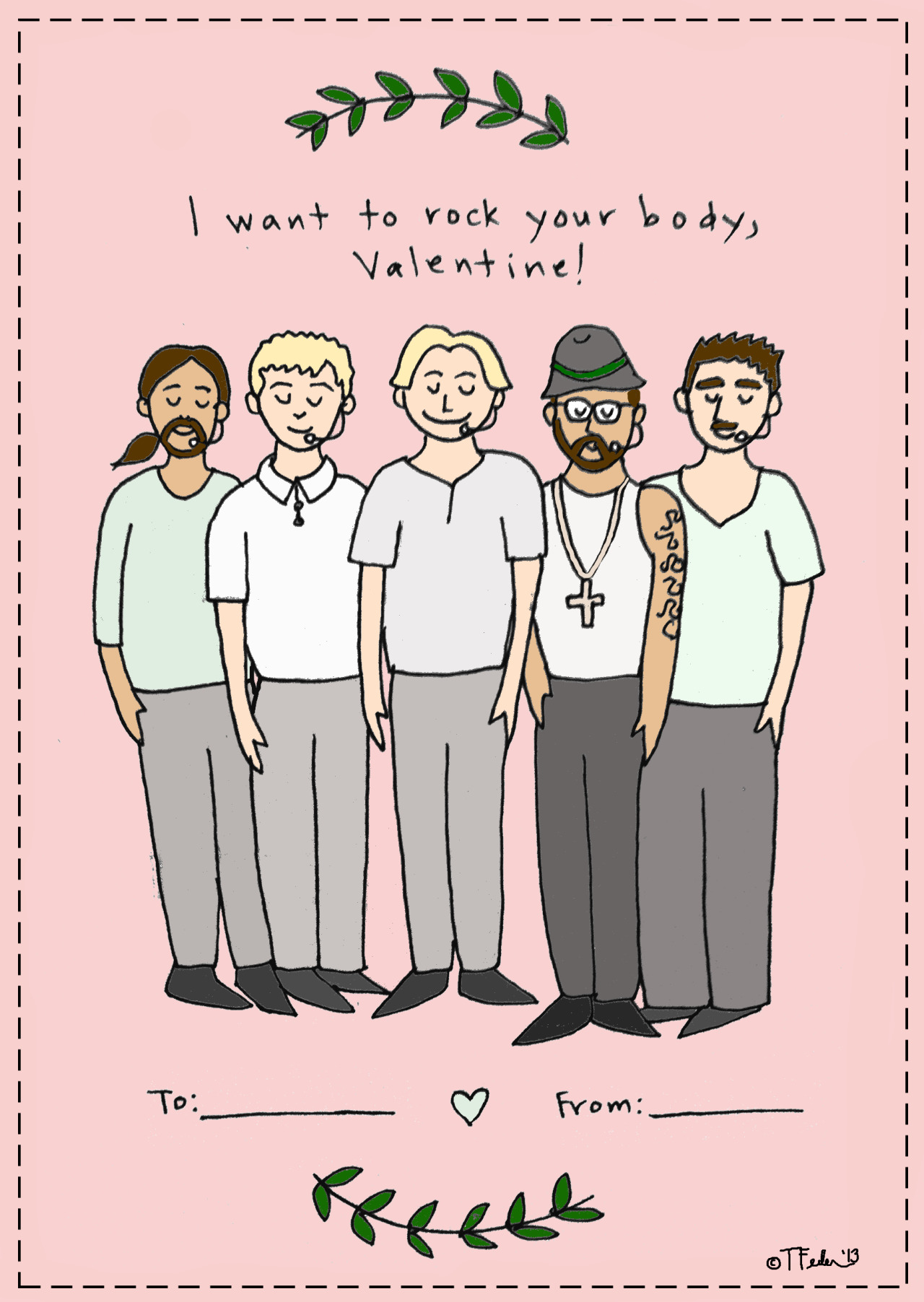 Backstreet Boys valentine (by Tyler Feder)