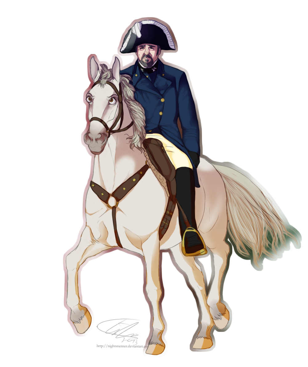 nightrsunner:  Inspector Javert (Les Mis), riding his Friend in Law, Maximus (Tangled)