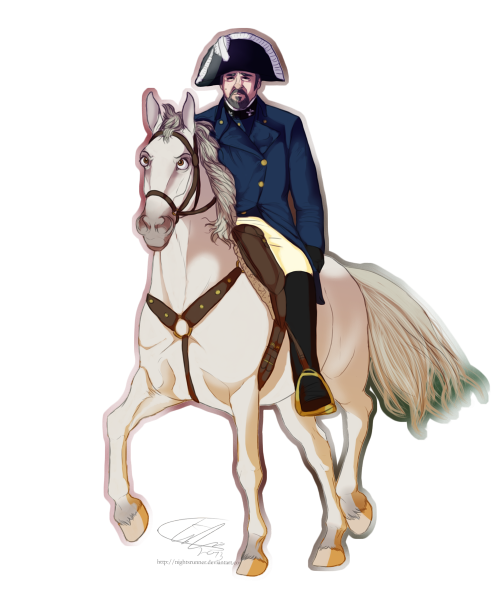 therainbowbandit:  nightrsunner:  Inspector Javert (Les Mis), riding his Friend in Law, Maximus (Tangled)  i have been waiting all my life for Javert and Maximus the horse to come together