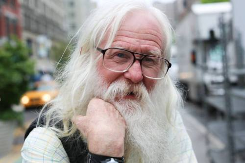 "happylumberjack:  humansofnewyork:  ""I've never used a cellphone or computer.""  We salute you."