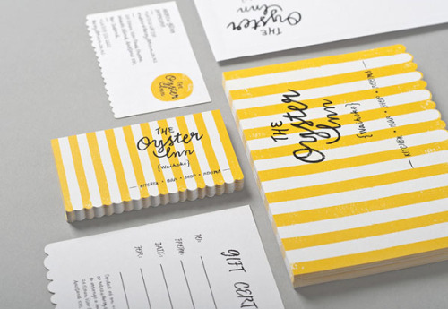 The Oyster Inn - Brand Identity A brand design project still in progress by agency Special Group in cooperation with Katie Lockhart for The Oyster Inn, a New Zealand-based restau­rant, shop and inn. More of the brand identity on WE AND THE COLORWATC//Facebook//Twitter//Google+//Pinterest