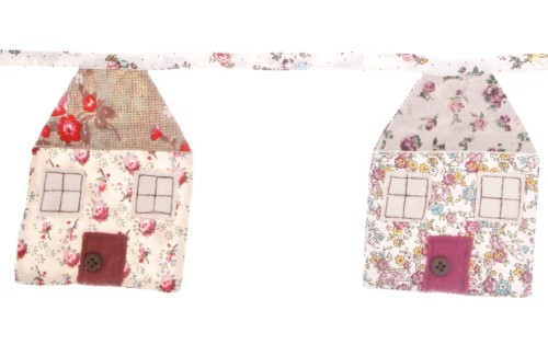 Brand new - Our 100% cotton House shaped bunting complete with button doorknobs. Only £12.45