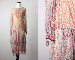 Amazing vintage 1920s, beaded gown… Love!
