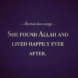 khadimulquran:  Shortest love story.