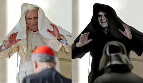 "RIP Pope Benedict XVI ""Sith"" Jokes (2005-2013) (h/t nickrrrad, Via)"