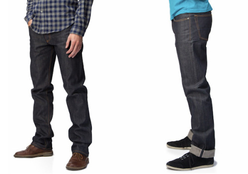 Kickstarter of Interest: Gustin denim Last week a Kickstarter project came to our attention from the team at Gustin, who is offering their denim at wholesale prices direct to pre-sale customers instead of selling to retailers. The project met its fundraising goal on the first day.  If you back the project for $81, then you can receive a pair of selvedge denim jeans made in San Francisco from fabric from White Oak Cone Mills. Compared to several other made-in-the-U.S.A. raw denim brands at retail, that's under half what you'd typically see. Personally, none of us here have had hands-on experience with Gustin denim, so we can't fully comment on things such as fit and construction. There is a sizing chart here, which you can use to compare to other pairs of jeans you may own. For some insight from people who have tried on a pair, Gus at A Bit of Color had some thoughts as does Mark at Simpler Man. I also wondered about the possibilities of returns or exchanges for Gustin's Kickstarter backers. Here's the response I received from Stephen at Gustin:     We're not going to officially allow returns or exchanges (Kickstarter makes it quite difficult), but we'll do our best to facilitate swapping of sizes if there's an issue. After Kickstarter - absolutely. The goal is to have free shipping both ways. It'll work like Zappos - you can order 3 styles in 3 sizes, and just keep what fits.     I personally think the idea of crowd-funding is an interesting approach to addressing the cost issue of raw denim (and apparently so do more than 800 other people backing the project). I'd just caution looking over the size chart carefully and making sure the fit works for your needs.  -Kiyoshi