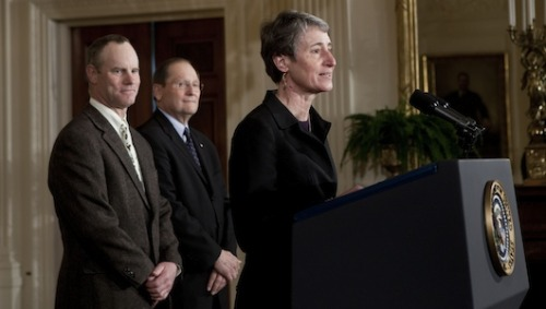 Obama picks REI chief for Interior secretary      REI CEO Sally Jewell, who has led the outdoor-equipment company since 2005, will take over from outgoing Interior Secretary Ken Salazar if she's confirmed.