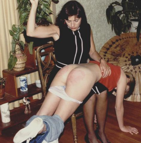 otk4me:dundee47:19 year olds first OTK spanking with a hairbrush. She wanted to know what a proper spanking felt like and by the end I'm sure she knew.I like to study the classics…Looks like Janet and Peaches at Nu-West.
