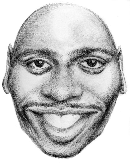 Randomly thinking of Dave Chappelle tonight (drawing from 2003)