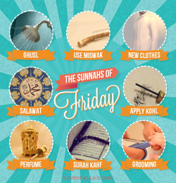 islamographic:  Things To Do on a Friday |SHARE| - www.lionofAllah.com