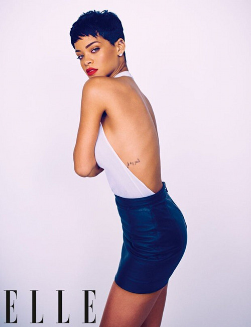 "{Photo Lust} We are currently lusting over this photo of Rihanna. looking hot for ""Elle"" Magazine due to be released this april."
