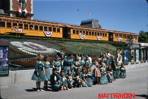 vintagedisneyparks:  Girl scouts at Disneyland
