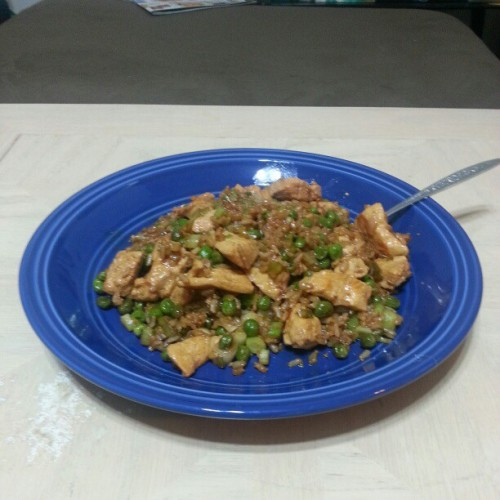 Tonight for dinner, Chicken and Pea Delight.