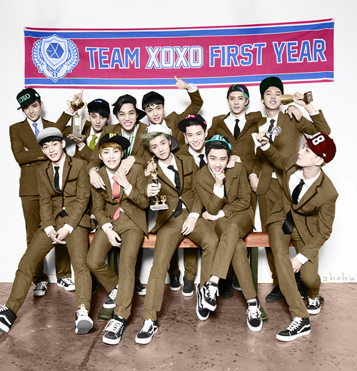 zhohu:        {exo teaser photo coloring} i tried :< anyway here's the bigger one ♥