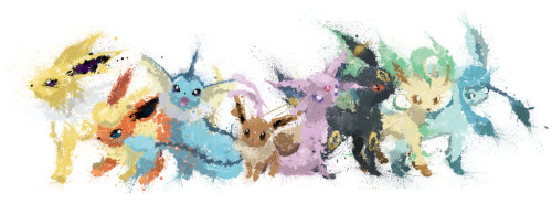 dotcore:   Paint Drip Eevee Collection.by Tyler McMillan.
