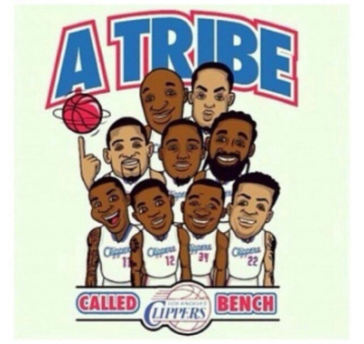 "Los Angeles Clippers bench mob ""Lob City Trick"""