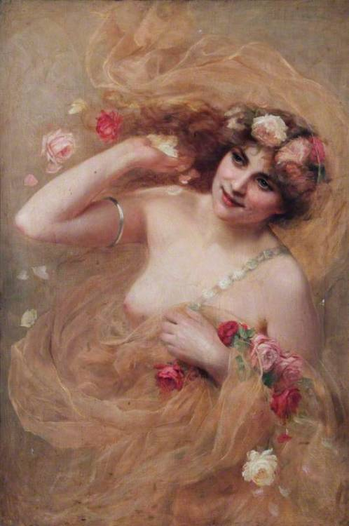 "Beatrice Offor ""Nude with Roses"""