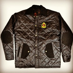 HrH quilted jacket phantom edition with custom corduroy elbow patches/pockets and collar. Now available online. Benjartclothing.com | special introductory price for 1 week only! !