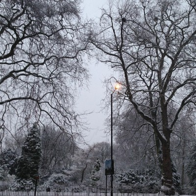 frannn:  #hydepark in the #snow