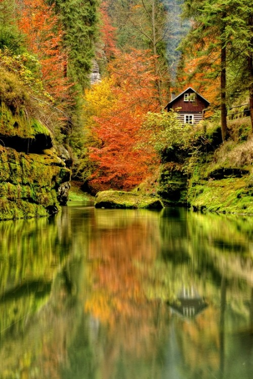 bluepueblo:  Canyon Cabin, Czech Republic photo via thea