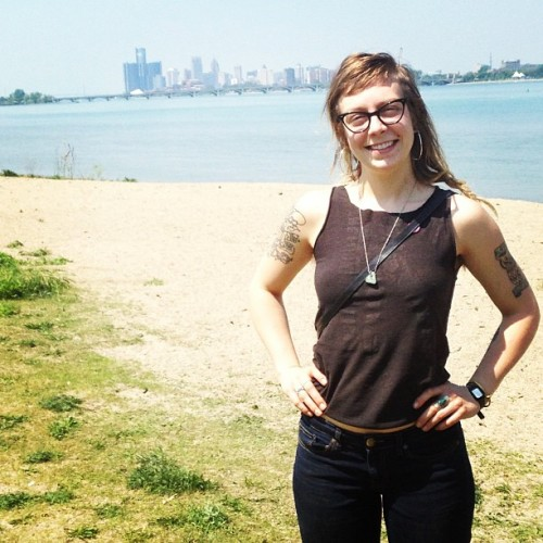 Julie!!!  #belleisle #detroit  (at Crunk Beach)