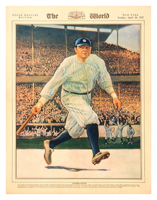 "Babe Ruth ""The World"" News Cover - April 10, 192786 Years Ago Today In New York…"