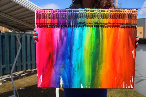 pengu-n:  yay my first melting crayon art!if you upload it on instagram, please give me credit@perrytheplatypuus