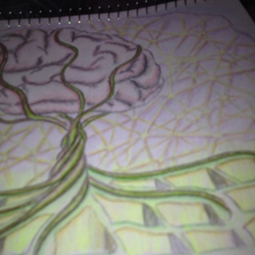 W.I.P of a #tattoo design #tree #brain #huntington #disease  (à Symbios-Ink Tattoo Design)