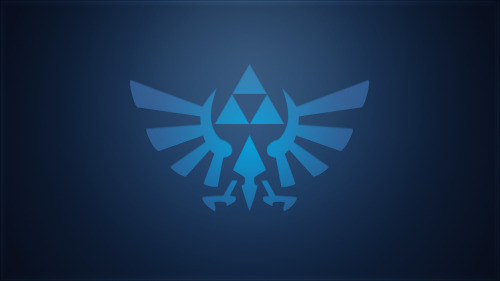 Minimalistic Blue Triforce wallpaper by ~Createvi In the Legend of Zelda mood and couldnt find a nice wallpaper. So the only logical conclusion is to make your own right?Found a vector I made about 2 years ago for Zeldaclub.nl and applied fancy effects. What you can do with a little boredom and 10 minutes.